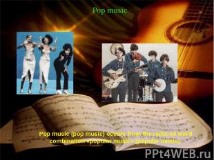 Pop music Pop music