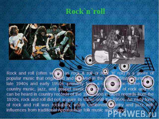 Rock`n`roll Rock`n`roll