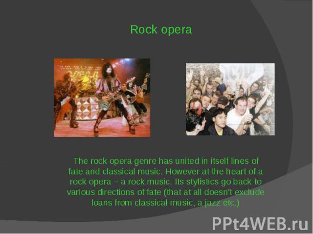 Rock opera Rock opera