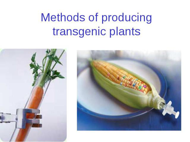 Methods of producing transgenic plants