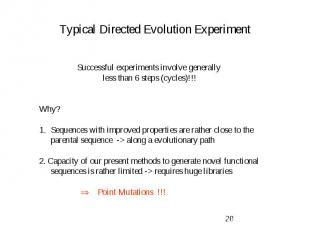 Typical Directed Evolution Experiment