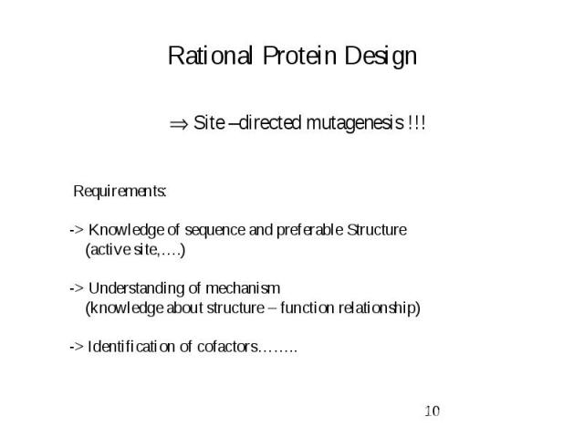 Rational Protein Design