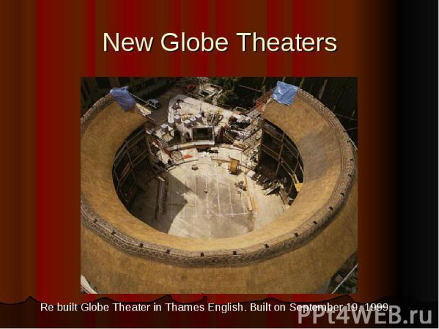 New Globe Theaters
