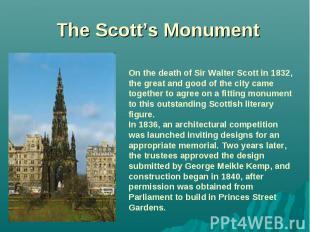 The Scott's Monument