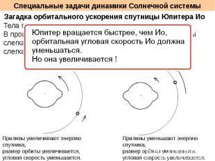 Специальные задачи динамики Солнечной системы