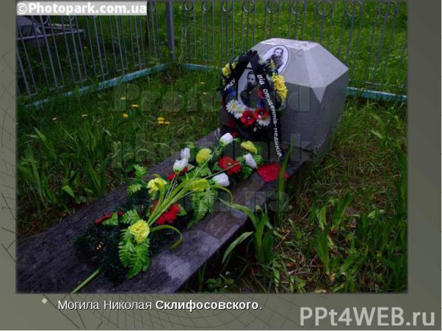 Могила Николая Склифосовского.