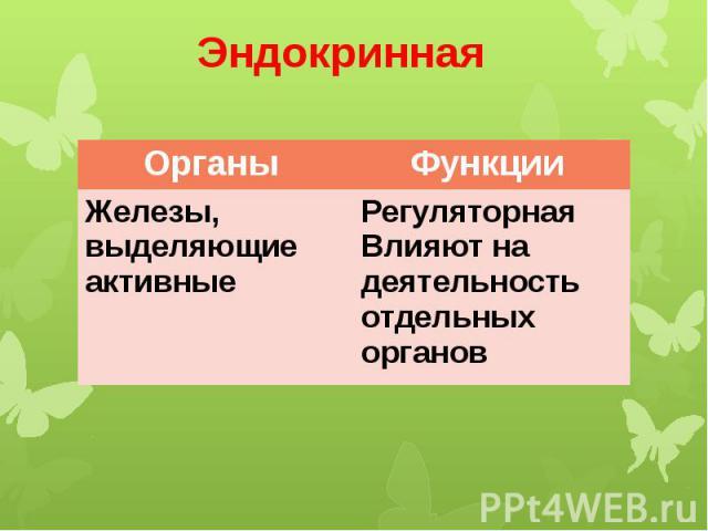 Эндокринная