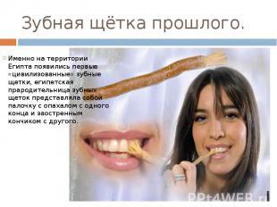 Зубная щётка прошлого. Именно на территории Египта появились первые «цивилизован