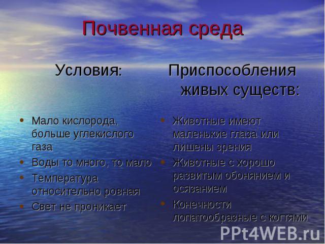 Условия: Условия: