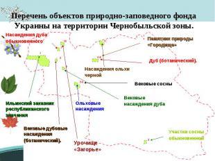 Перечень объектов природно-заповедного фонда Украины на территории Чернобыльской