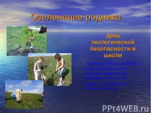 День экологической безопасности в школе День экологической безопасности в школе