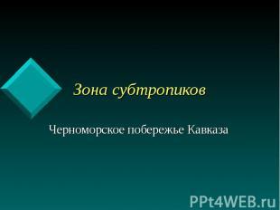 Зона субтропиков Черноморское побережье Кавказа