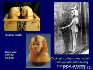 Селкит - одна из четырёх богинь-хранительниц ковчега с канопами Селкит - одна из