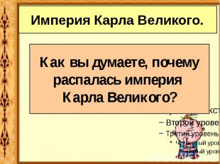 Империя Карла Великого.