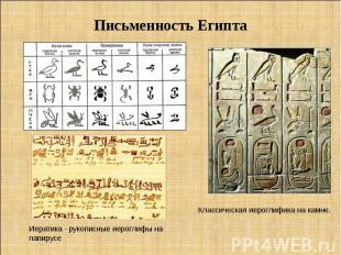 Письменность Египта