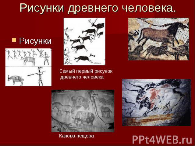 Рисунки древнего человека. Рисунки