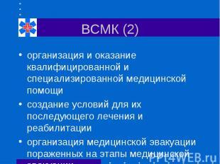 ВСМК (2) организация и оказание квалифицированной и специализированной медицинск