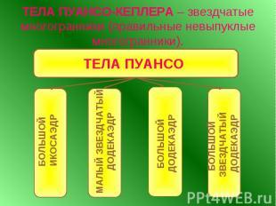 ТЕЛА ПУАНСО-КЕПЛЕРА – звездчатые многогранники (правильные невыпуклые многогранн