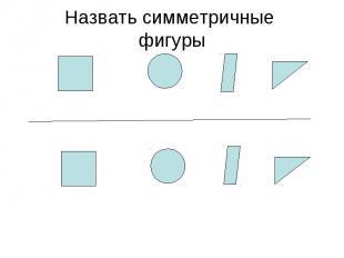 Назвать симметричные фигуры