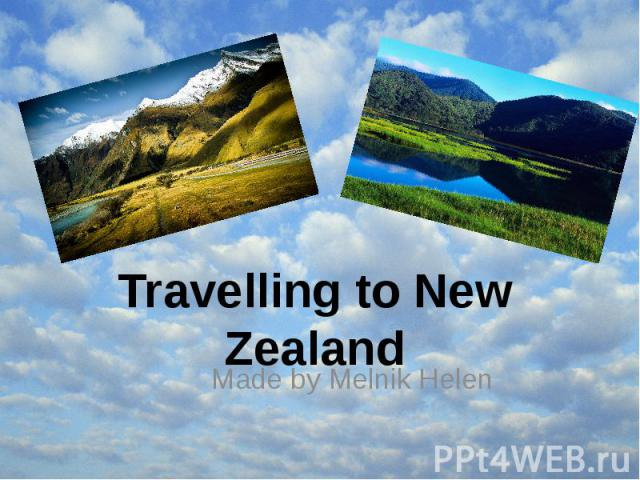 Travelling to New Zealand Made by Melnik Helen
