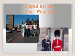 Population – the English