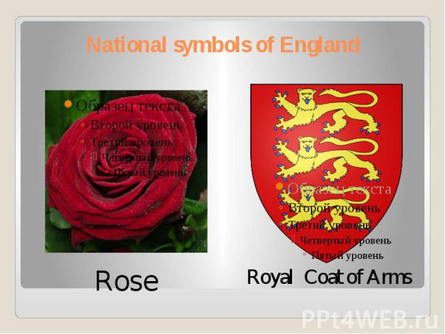 National symbols of England