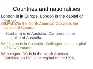 London is in Europe. London is the capital of the UK. London is in Europe. Londo