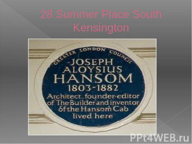 28 Summer Place South Kensington