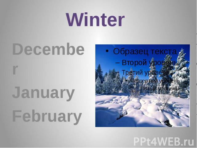 Winter December January February