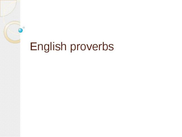 English proverbs