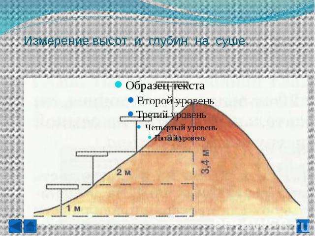 Измерение высот и глубин на суше. Нивелир -