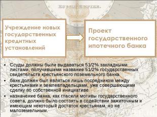 Ссуды должны были выдаваться 51/2% закладными листами, получившими название 51/2