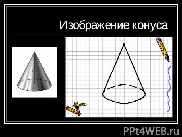 Изображение конуса