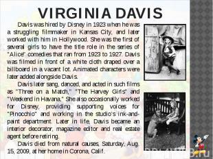 VIRGINIA DAVIS