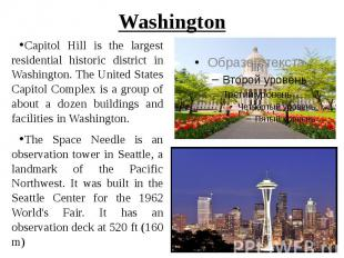 Washington Capitol Hill is the largest residential historic district in Washingt