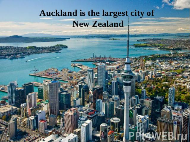 Auckland is the largest city of New Zealand