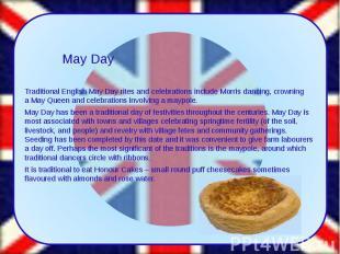 Traditional English May Dayritesandcelebrationsinclude&n