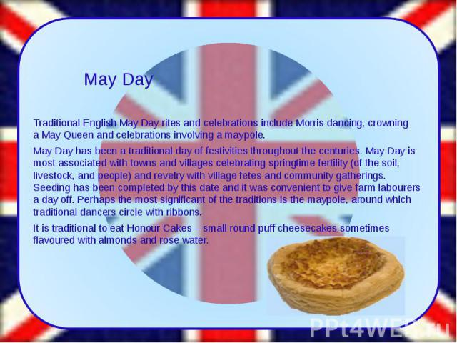 Traditional English May DayritesandcelebrationsincludeMorris dancing, crowning aMay Queenand celebrations involving a maypole. Traditional English May Dayritesandcelebrationsinclude&n…