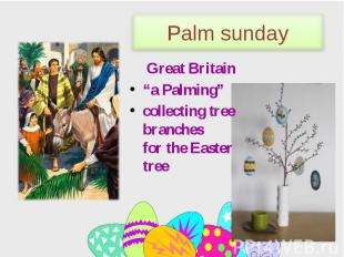 """Great Britain Great Britain """"a Palming"""" сollecting tree branches for the Easter"""