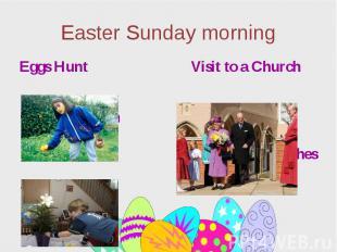 Easter Sunday morning Eggs Hunt