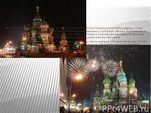 Saint Basil's Cathedral The Cathedral of the Protection of Most Holy Theotokos o