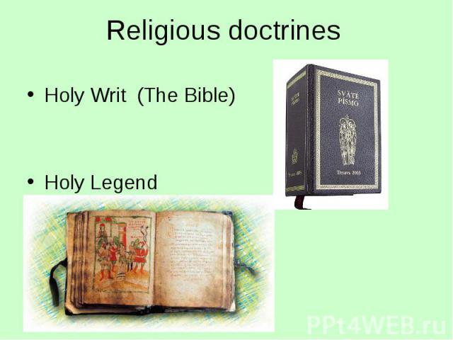 Holy Writ (The Bible) Holy Writ (The Bible) Holy Legend