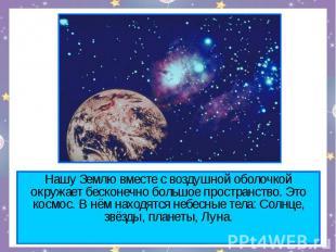 Нашу Землю вместе с воздушной оболочкой окружает бесконечно большое пространство