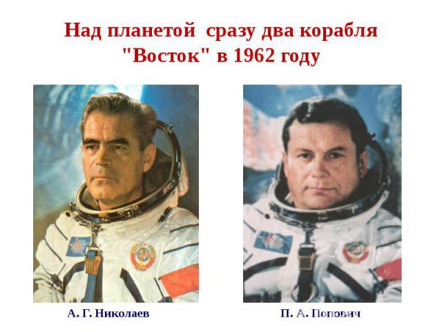 """Над планетой сразу два корабля """"Восток"""" в 1962 году"""