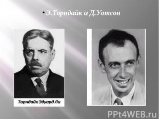 Э.Торндайк и Д.Уотсон
