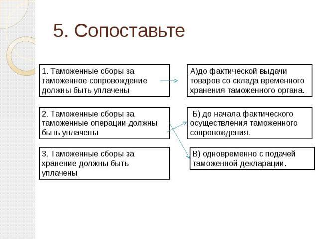 5. Сопоставьте