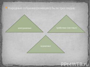 Народные собрания (комиции) были трех видов: Народные собрания (комиции) были тр