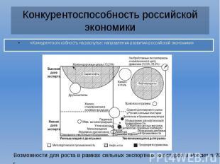 Конкурентоспособность российской экономики «Конкурентоспособность на распутье: н