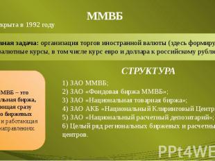 ММВБ Была открыта в 1992 году