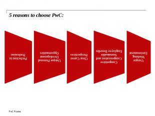 5 reasons to choose PwC: